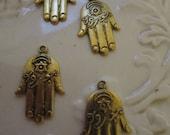 Set of 5 Brass Hand pendants