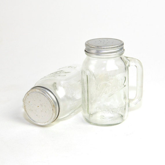 Ball Mason Jar Salt Pepper Or Spice Shakers Clear Glass