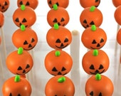 12 Halloween Jack O' Lantern, Ghost, Pumpkin, Cake Pops