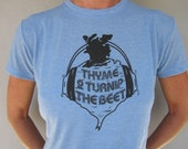 "Large Woman's ""Thyme 2 Turnip the Beet"" Foodie T-shirt in many colors."