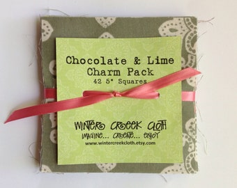 Chocolate and Lime Impression Charm Pack