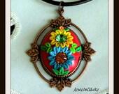 Beautiful flower garden pendant