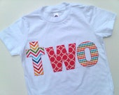 Chevron Circles Dots Lowercase Letters Birthday Shirt- Make your own