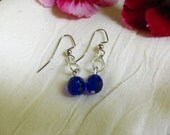 Dainty Cobalt Earrings