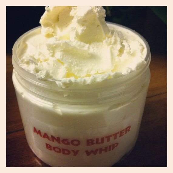 8 oz. Pure ORGANIC Whipped Mango Butter, Cocoa Butter Body Whip
