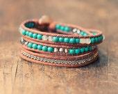 Bohemian Wrap Bracelet - Turquoise - Bohemian Jewelry