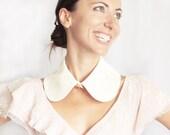 Detachable Collar Lace Collar Peter Pan Collar Vanilla Ivory Beige Cream Ecru Lacy Lolita Collar Shirt Collar