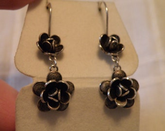Sweet Sterling Floral Earrings