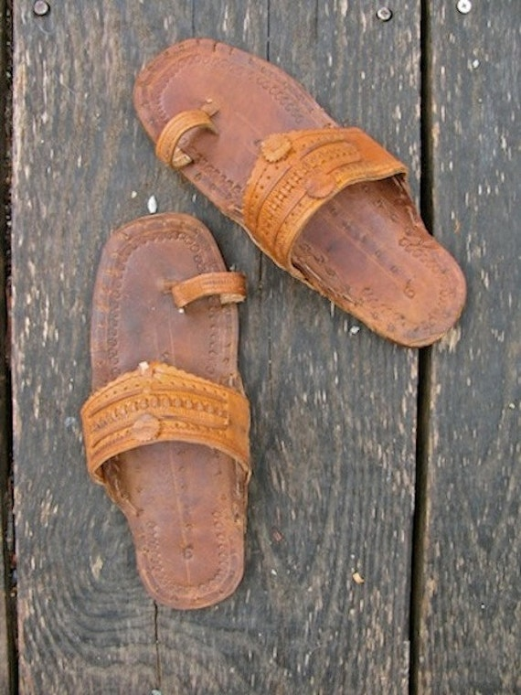 Vintage Boho Hand Made Ethnic Leather Sandals