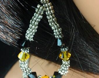 Black N Gold Earrings inspired by Pittsburgh Steelers Fans