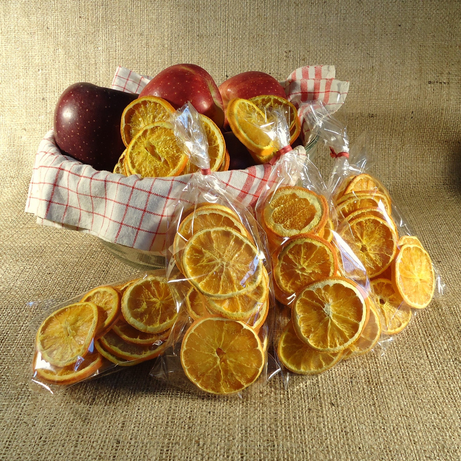 Colonial Decor Dried Orange Slices Primitive By RaggedyRee