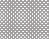 Small Cotton Dots - Gray - Riley Blake 1 yard Pre-order - Sale - shipping in October