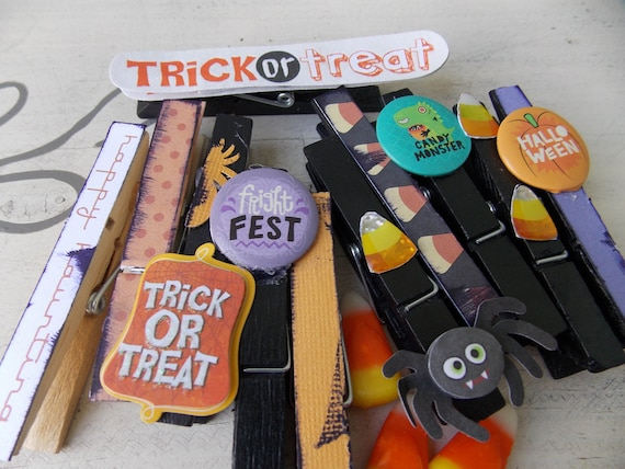 Frightful and Delightful Halloween Clothespins