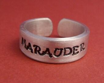 Marauder - A Hand Stamped Aluminum Ring