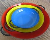 Mid Century Nesting Enameled Serving Plates