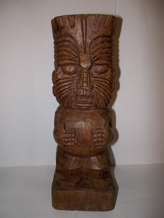 Mid Century TIKI/ Carved Wood TIKI/ Tribal Twins/ Carved