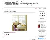 Premade Premium Blog Design: Champagne & Chocolate