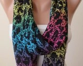 Gift - New - Infinity  - Eternity -  Circle -  Loop Scarf - Multicolor - Colorful - Chiffon Fabric
