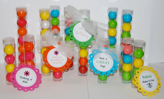 Clear plastic tubes with caps - CHOOSE SIZE - Qty 12 - use for storage - party & shower favors - quick easy gifts - food save gumball tubes