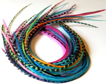 Hair Feathers - Feather Extensions - Long Hair Feathers Extensions - you choose colors