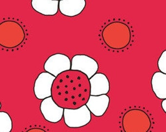 Red Thread: Daisies Red A5905 by Marisa for Creative Thursday 1 Yard Cut