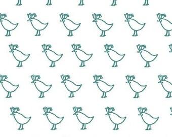 Bella Birds in Schooner  by Lotta Jansdotter 1/2 Yard Cut