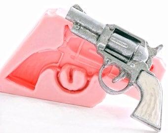 Pistol Silicone Mold - Old west gun mold - Six shooter mold - Fondant Mold - Sugar Mold - Candy Mold - Chocolate Mold - Clay Mold Resin (905