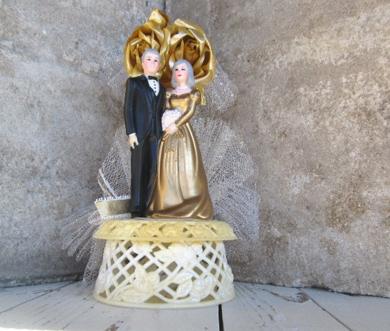 anniversary wedding cake toppers vintage 50th wedding anniversary cake topper golden 10787