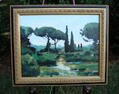 "50% off SALE - Ostia Antica I, Original Acrylic Painting, 16"" x  20"""