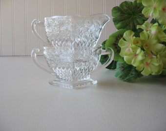 Cream and Sugar Bowl,  Cut Glass, Tablesetting
