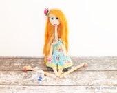 Big Eyed Kawaii Doll Creepy Cute Doll Maddy RESERVED for MA