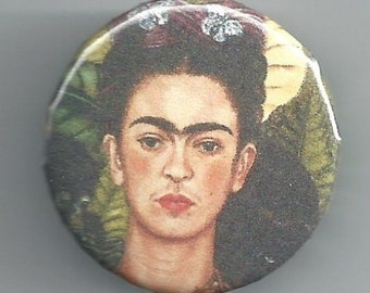 "1.25"" Frida Kahlo Badge Button Pinback Pin"