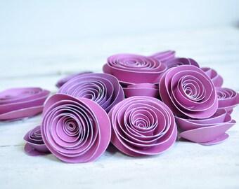 Purple Paper Flowers Set of 25 Flowers