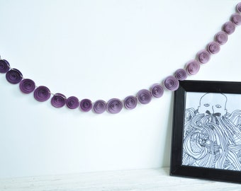 Ombre Purple Garland, Purple Paper flower garland- 3.5 feet