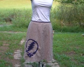 Applique Stealy on Up-Cycled skirt, Size 14