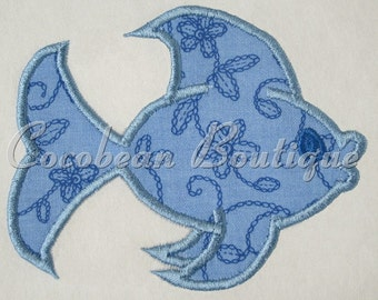 Fish embroidery applique