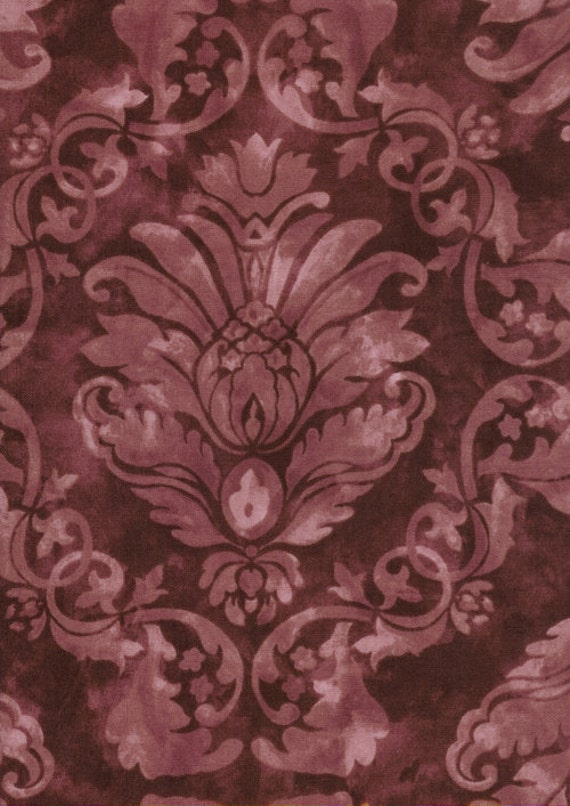 Bella verona Collection by Wing and a Prayer for Timeless Treasures c8584 Merlot 1 yard