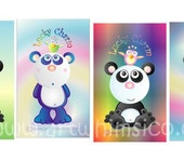 Panda Bookmark, bird bookmark, bookmak set, lucky charm