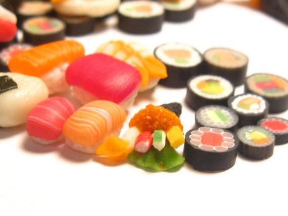 20 Miniature Sushi Dollhouse Foods (Random Mix)