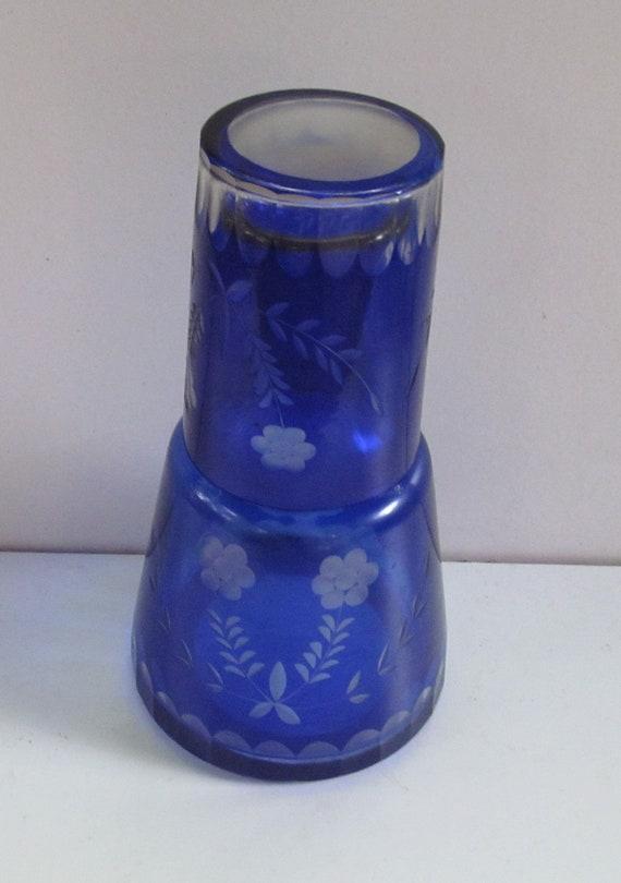 Vintage Bedside Water Bottle Carafe And Tumbler Set