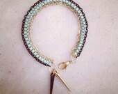 Chain & Spike Bracelet - Seafoam Green