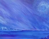 Original Painting On Canvas 30cm (11.75in)  x 40 cm (15.5in)