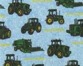 2 yards of John Deere tractor flannel
