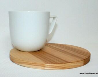 Round Wooden Mug Coaster
