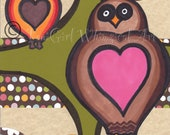 Owl art print - 8x10 print - nursery decor