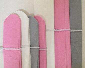 ELEPHANT / 7 Pink, Gray & White Tissue Paper Poms / 1st Bday / Nursery Decor / Crib Mobile / Baby Shower / Gender Reveal / Crib Mobile
