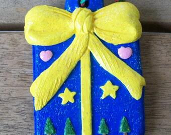 Handpainted Christman Present Ornament