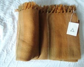 Virgin Wool Rust Throw Blanket Three Weavers Company