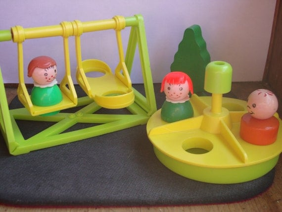 Now On Sale  Vintage Fisher Price Little People Playground