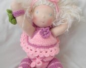 Freya a Waldorf  doll made by hands,not sewing machine at all